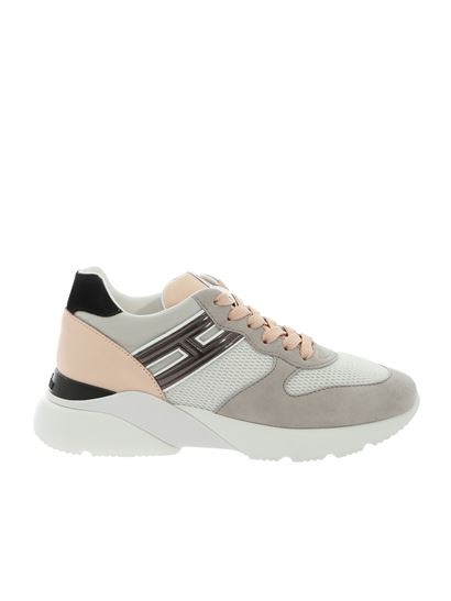 Hogan - Sneakers Active One grigie e rosa