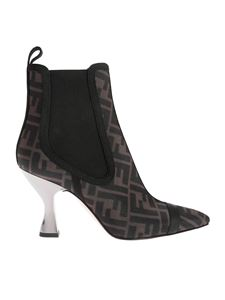Fendi - Colibrì ankle boots in brown and black FF motif