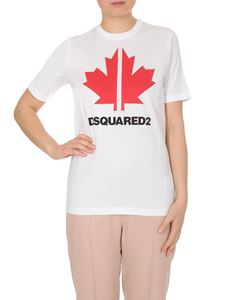 Dsquared2 - Maple print T-shirt in white
