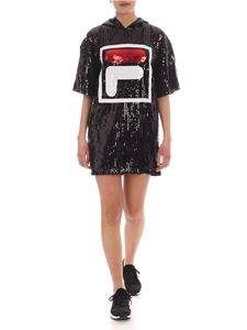 Fila - Mari short dress in black with sequins
