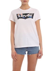 Levi's - Floral logo print T-shirt in white