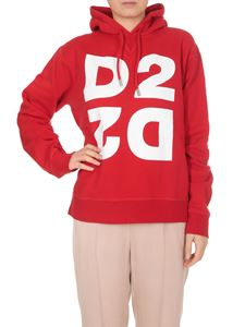 Dsquared2 - Mirrored D2 hoodie in red