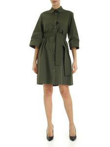 Parosh - Patch pockets dress in Army green