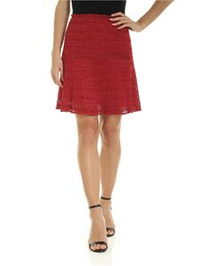M Missoni - Lamè knit short skirt in red