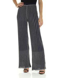 M Missoni - Trousers in blue with silver embroidery
