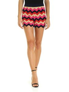 M Missoni - Shorts with multicolor zig-zag pattern