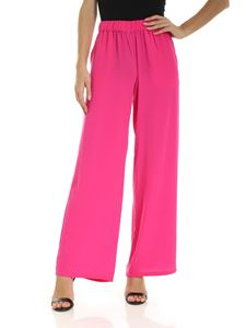 Parosh - Loose fit trousers in fuchsia