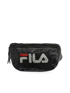Fila - Sequins belt bag in black