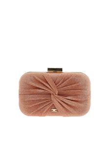 Elisabetta Franchi - Lamè details clutch in grapefruit pink color