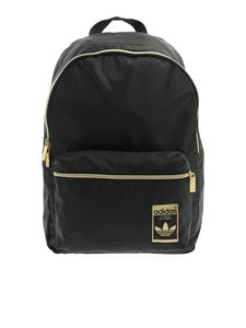 Adidas Originals - Classic black backpack with golden details