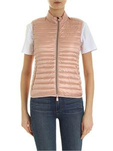 Save the duck - Quilted padded waistcoat in pink
