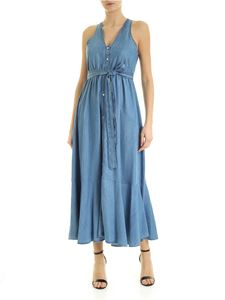 MY TWIN Twinset - Denim long dress in light blue