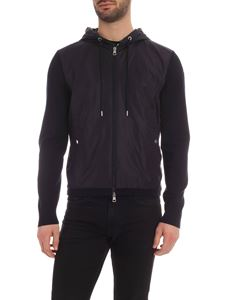 Moncler - Logo patch cardigan in blue