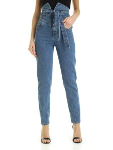 The Attico - Stone washed high waist jeans