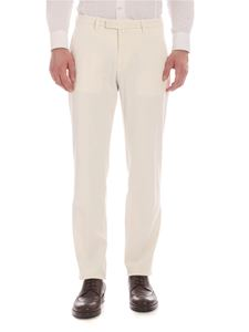 Briglia 1949 - Slim fit pants in ivory color