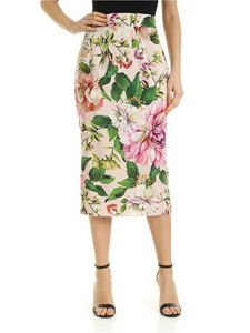 Dolce & Gabbana - Charmeuse longuette with floral print