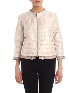 Diego M - Crop down jacket in pearly white