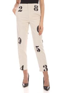 Dondup - Naissa pants in Dove grey color