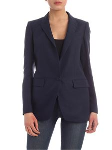 Dondup - Linen and viscose single-breasted jacket in blue