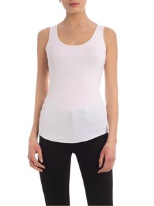 Majestic Filatures - Viscose jersey top in white