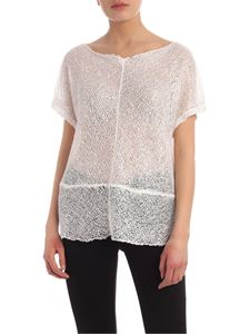 Parosh - Tone-on-tone sequins sweater in white