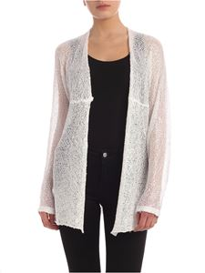 Parosh - Sequins knit cardigan in white