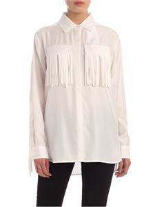 Parosh - Fringes cady shirt in white