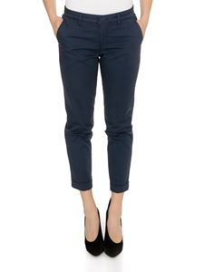 Fay - Turned-up pants in blue