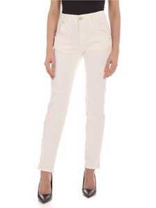 Lorena Antoniazzi - Logo jeans in ivory color