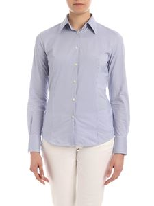 RRD Roberto Ricci Designs - Oxford Jacquard shirt in white and blue