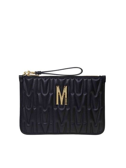 Moschino - Bustina M quilted nera