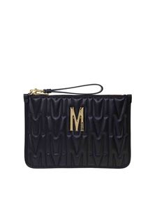 Moschino - M quilted clutch in black