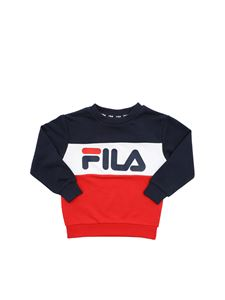 Fila - Night Blocked sweatshirt in red blue and white