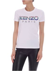 Kenzo - Multicolor logo T-shirt in white