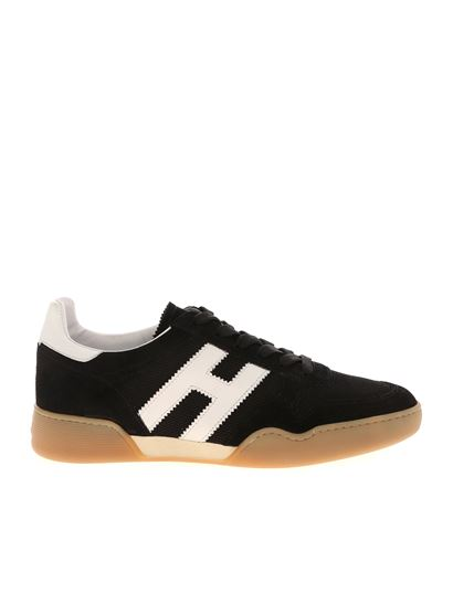 Hogan Spring Summer 2021 h357 sneakers in black and white ...