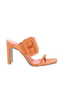 The Attico - Buckle sandals in salmon pink
