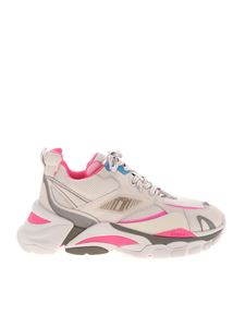 Ash - Flex sneakers in white and pink