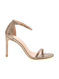Stuart Weitzman - Nudistsong sandals in lamé bronze color