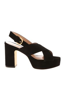 Stuart Weitzman - Jerry suede sandals in black