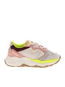 MSGM - Attack sneakers in grey and pink