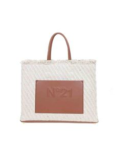 N° 21 - Jute shopping bag in beige