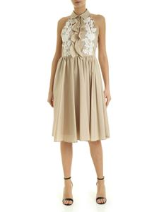 Blumarine - Sleeveless dress with nude effect detail in beige