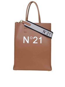 N° 21 - Borsa shopping marrone con logo