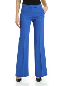 Fay - Flared pants in electric blue crepe