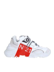 N° 21 - Billy sneakers in white and red