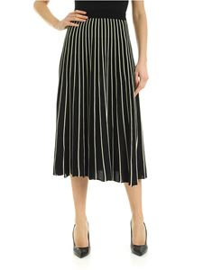 be Blumarine - Knitted skirt in black with yellow details