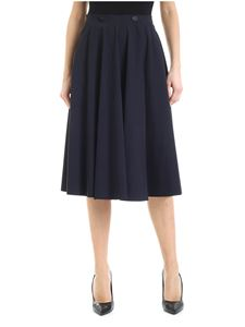 RRD Roberto Ricci Designs - Wrap skirt in blue technical fabric