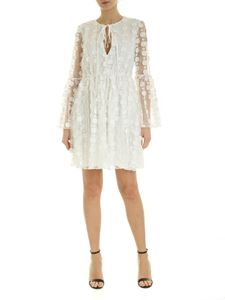 be Blumarine - Tulle dress with flowers embroidery in white
