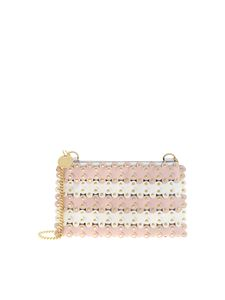 Red Valentino - Flower Puzzle clutch bag in pink and white