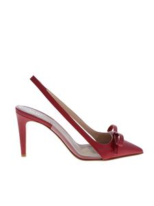 Red Valentino - Pointed slingbacks in red leather with bow